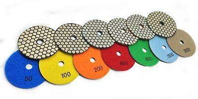 4 Diamond Dry 70 Piece Polishing Pad Grit 50 100 200 400 Granite Marble Glass