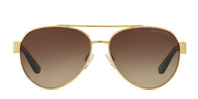 Michael Kors MK1014 (Blair I) Aviator Gold & Brown Frame Gradient Sunglasses