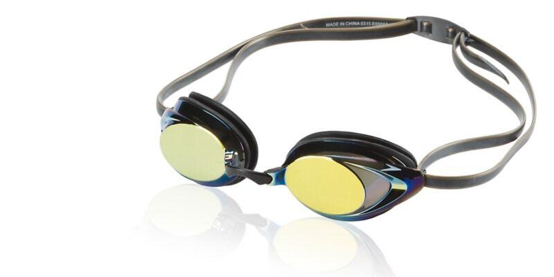 Speedo Vanquisher 2.0 Mirrored Adult Swim Goggle, Deep Gold