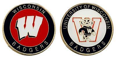 "Logo Challenge Coin - University of Wisconsin ""Badgers"" Collectible Challenge Coin - Logo Poker - Luck"