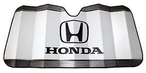Honda Logo White Windshield Sunshade Accordion UV Sun Heat New Free Shipping