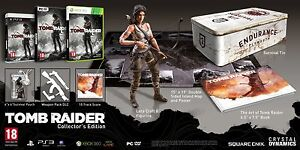 Tomb-Raider-Collectors-Edition-Microsoft-Xbox-360-New-Sealed-Pack-Tin-Box