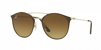 GAFAS DE SOL RAY-BAN RB3546 9009/85 52 BROWN & GOLD FRAME BROWN...