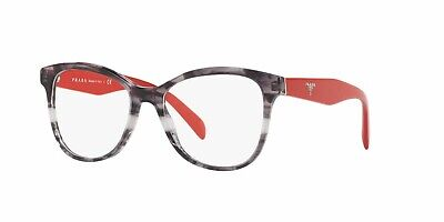 PRADA PR 12TV 2571O1 Heritage Striped Grey Demo Lens 53 mm Women's Eyeglasses