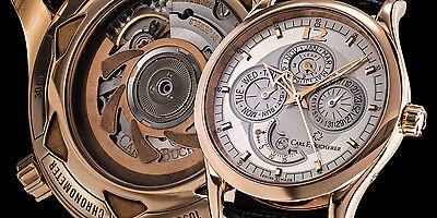 Carl Bucherer 18K Rose Gold Manero Perpetual Calendar Moonphase Automatic. Mint