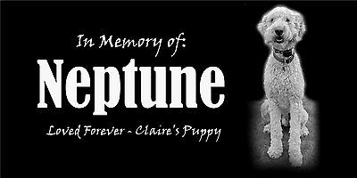 "Personalized Pet Dog Bone Stone Memorial Engraved Headstone 6""x12"" Dachshund"