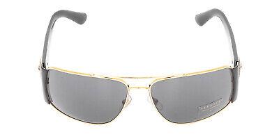 Versace VE2163 100287 Gold Frame Grey Rectangular Lens Men's Sunglasses