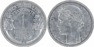 France-1-Franc-1958-Brilliant-Uncirculated