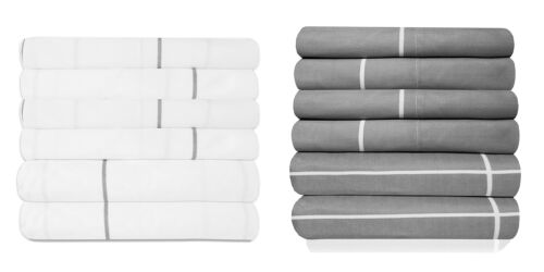 Loft Collection 6 Piece Sheet Set 1500 Thread Count Window Pane Bedding