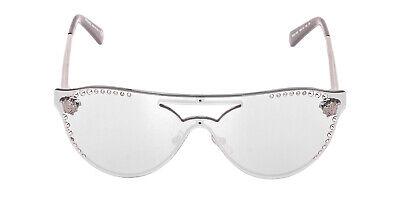 Versace VE2161-10011U-42mm Gunmetal Frame Blue / Mirrored Silver Lens Sunglasses