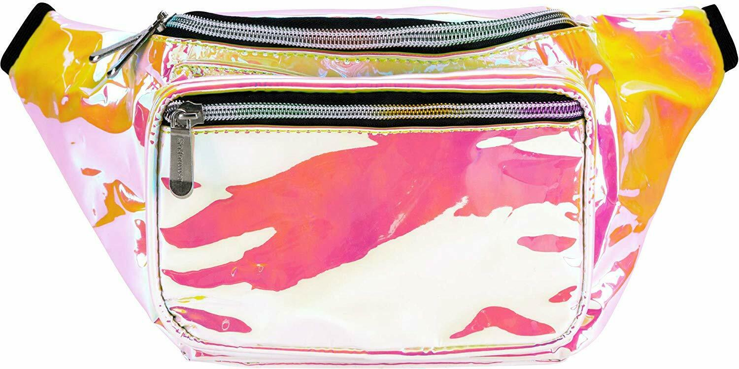SoJourner Holographic Rave Fanny Pack for Festival women, me