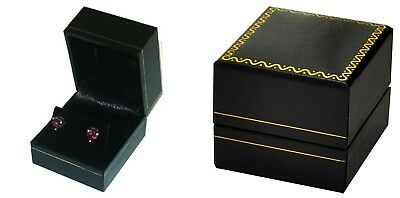 Wholesale 144 Classic Black Leatherette Earring Jewelry Display Gift Boxes