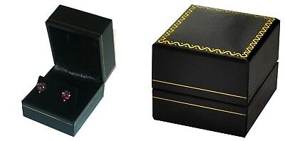 Wholesale 96 Classic Black Leatherette Earring Jewelry Display Gift Boxes