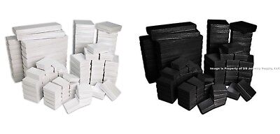 100 Assorted Size Black White Swirl Cotton Fill Jewelry Packaging Gift Boxes
