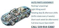Automotive production workers needed in Woodstock- 519-914-5366