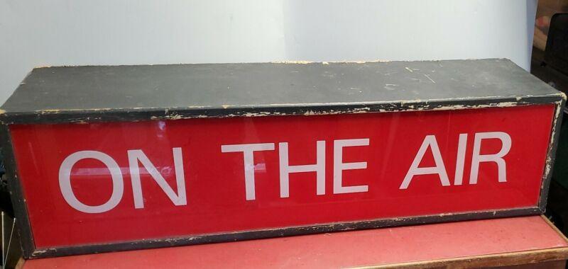 Vintage On The Air Broadcast Studio Radio Sign TV Light Box Movies Hollywood CA