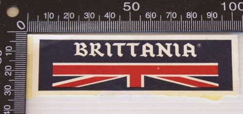 VINTAGE BRITTANIA BRITAIN ENGLAND UK SOUVENIR PROMO VINYL STICKER