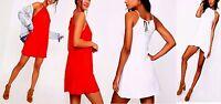 Ladies Womens Ruched Halterneck Shift Dress - unbranded - ebay.co.uk