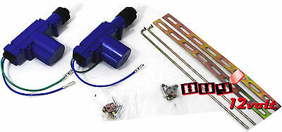 Universal Power Door Lock Kit for 2 Doors - Gun Type 12V Actuators for Vehicles