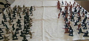 144 x Large Army Military Combat Action Plastic Toy Soldier 1:45 Scale Figurines