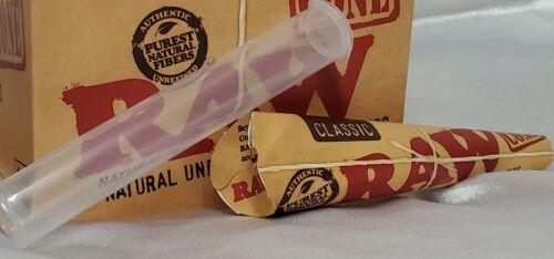 Raw Classic Rolling Paper Cones Natural Hemp 6 pk 1 1/4 plus