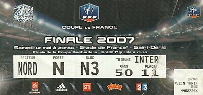 ticket Final cup France 2007