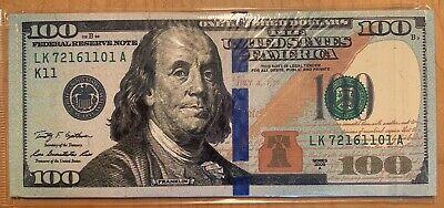 New Design $100 dollar bill money Bifold Card Holder thin durable canvas Wallet 100 Dollar Bill Design