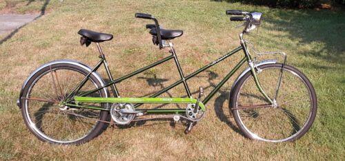 1971 Schwinn Twinn , Green Tandem Bicycle
