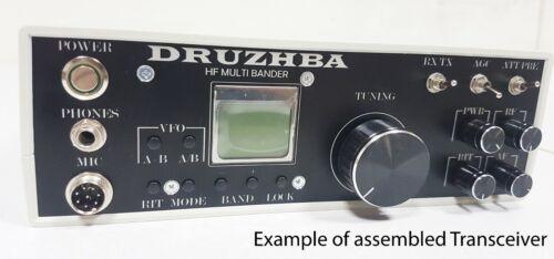 DRUZHBA. HF multi bander, SSB/CW Transceiver. Full Kit DIY + enclosure