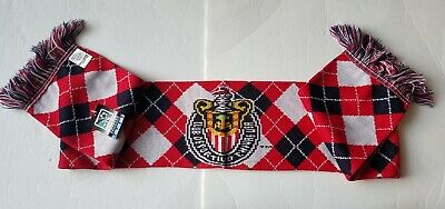 Ruffneck Scarves Club Deportivo Chivas USA Soccer Team Red Plaid Scarf