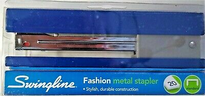 Swingline Full Strip Fashion Stapler 20-sheet Capacity Navy 87832