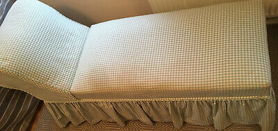 Green/White Gingham Ottoman Day Bed Chaise Lounge Storage! Lift Up Top. Lovely!