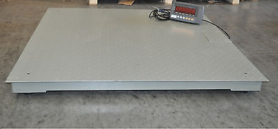 10000 Lbs Capacity 1 Lbs Accuracy 4x4 Floor Pallet Scale Industrial 48 X 48