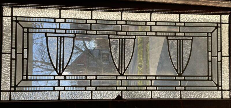Leaded Textured/flat Glass Transom