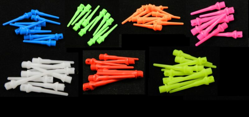 1000 Dart Tips Assorted Colors 2ba Size,Tufflex  Extremely Durable