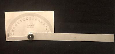 Starrett C183 Protractor Stainless Rectangular Head Machinist Tool