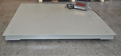 4x4 10000 Lbs Capacity 1 Lbs Accuracy Floor Pallet Scale Industrial 48 X 48