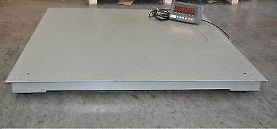 4x4 10000 Lbs Capacity 1 Lbs Accuracy Floor Pallet Scale Industrial 48 X 48