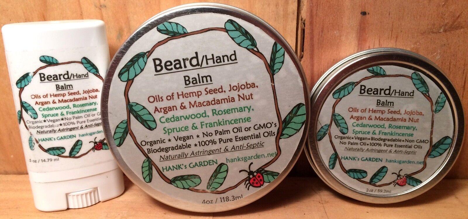 Beard/Hand Balm-Oils of Hemp Seed, Jojoba, Argan & Macadamia