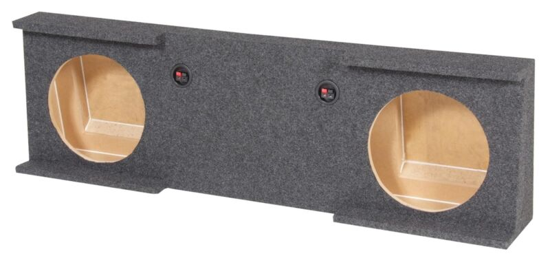 "GMC Chevy Crew Cab 2007-2013 Underseat Dual 10"" Subwoofer Sub Box Enclosure"