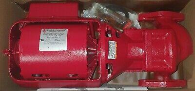 Bell Gossett W016189 Hot Water Circulator Pump 100 Series 112 Hp Booster