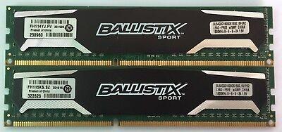 Dimm Xmp Desktop Memory - Memory/Ram Ballistix 8GB 2X4GB DDR3-1600 PC3-12800 W/ XMP DIMM Desktop 240pin