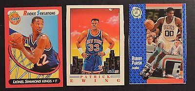 Basketball Cutouts (1991-92 Fleer Promotional Replica Cut-outs Ewing Simmons)