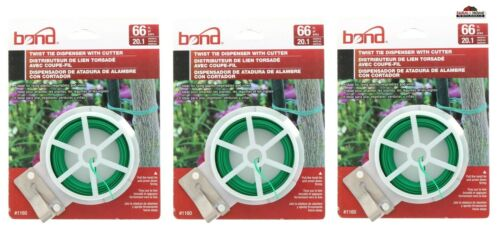 Bond Coated Wire Ties Green ~ New