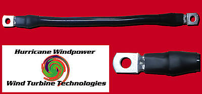 Battery Interconnect Cable Black 12 Inch 20 Awg For Solar Panel Wind Generator