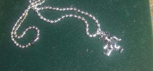 GRATEFUL DEAD Dancing Bear Vintage Silver Necklace