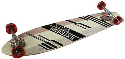 Longboard Pintail Cruiser 38,5 komplett Single Kicktail Deck 9-lagigem Ahorn 83A ()