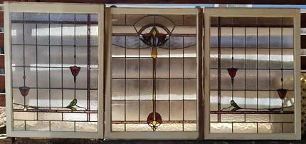 Leadlight Windows (3) $550.00ea or the lot for $1,500.00