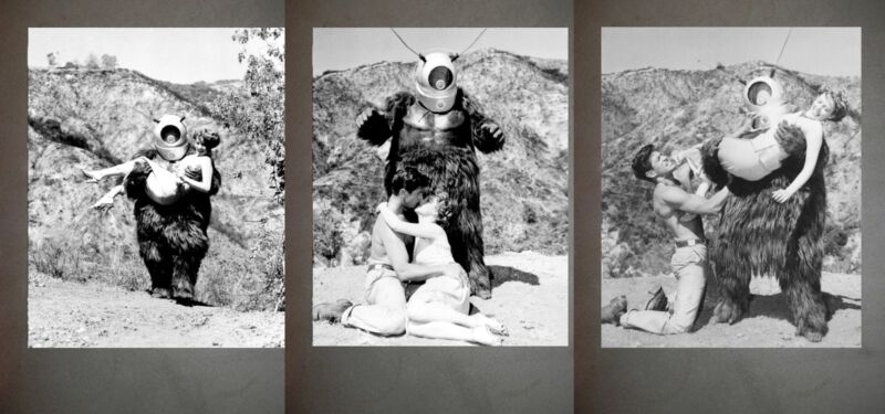 Robot Monster Promo Photo Lot B&W Still Set of 3 from the 1953 film