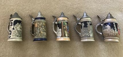 Beer steins made in Germany x 5